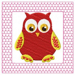 Lacy Red Owl embroidery design