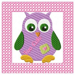 Lacy Owl Cute embroidery design