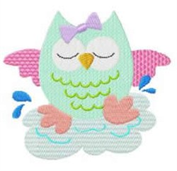 Owl Sleeping embroidery design