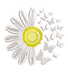 Daisy & Butterflies Breakaway embroidery design