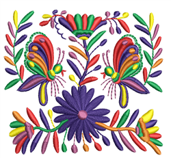Multi-Color Butterflies & Flowers embroidery design
