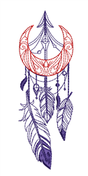 Moon & Dreamcatcher Outline embroidery design