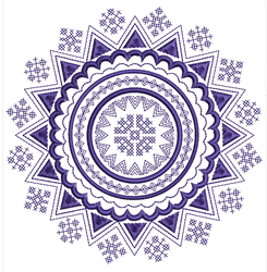 Mandala Cross Stitch embroidery design