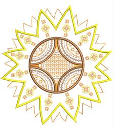 Mandala Sunflower embroidery design