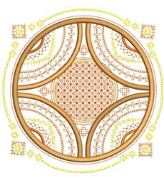 Mandala Circles embroidery design