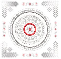 Decorative Mandala Square embroidery design