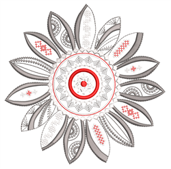 Decorative Mandala Sunflower embroidery design