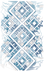 Aztec Tile embroidery design