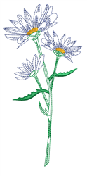 Wild Daisies embroidery design