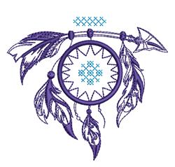 Arrow Dream Catcher Outline embroidery design