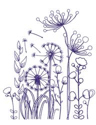 Dandelions Outline embroidery design