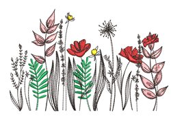 Wildflower Border embroidery design