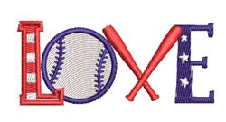 Love Baseball embroidery design