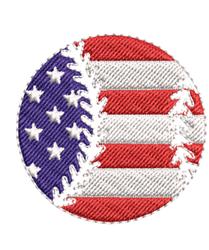 American Flag Baseball embroidery design