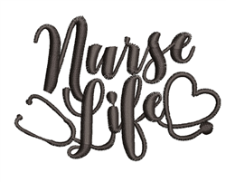 Nurse Life embroidery design