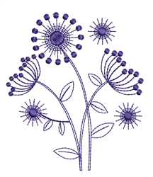 Decorative Dandelions embroidery design