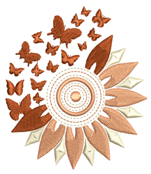 Sunflowers & Butterfly Breakaway embroidery design