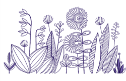 Bluework Floral Border embroidery design