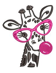 Bubble Gum Giraffe embroidery design
