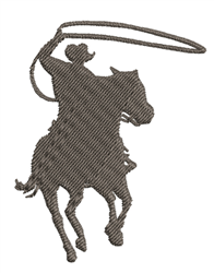Rodeo Cowboy Silhoeutte embroidery design