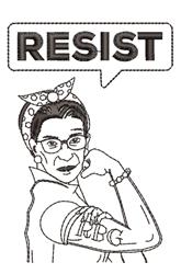 Resist Ruth Bader Ginsburg embroidery design
