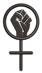 Female Power embroidery design
