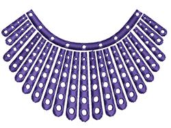 Ruth Bader Ginsburg Fringe embroidery design