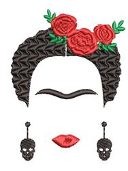 Frida Kahlo embroidery design