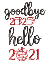 Goodbye 2020 Hello 2021 embroidery design