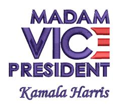 Madam Vice President Harris embroidery design