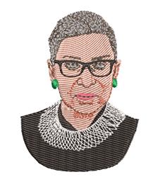 Ruth Bader Ginsburg embroidery design