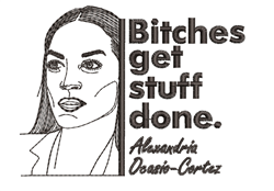 Bitches Get Stuff Done embroidery design
