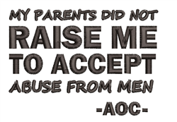 Do No Accept Abuse embroidery design