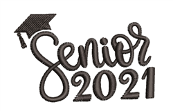 Senior 2021 embroidery design