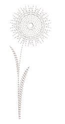 Run Stitch Dandelion embroidery design