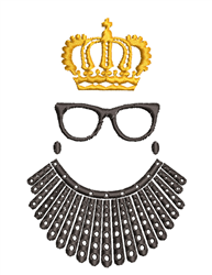 Ruth Bader Ginsburg Queen embroidery design