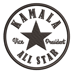 Kamala All Star embroidery design