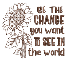 Be The Change embroidery design