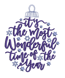 Wonderful Time Of Year embroidery design