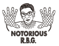 Notorious R.B.G. embroidery design