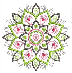 Mandala Flower Outline embroidery design