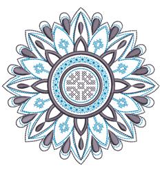 Mandala Cross Stitch Flower embroidery design