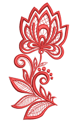 Rosemaling Floral Bloom embroidery design