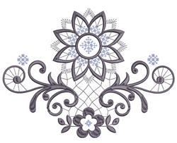 Sunflowers & Swirls embroidery design