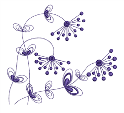 Simple Flowers embroidery design