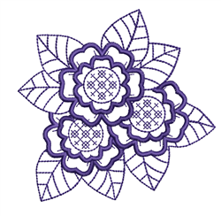 Outline Flowers embroidery design