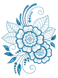 Rosemaling Outline embroidery design