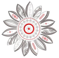 Decorative Mandala Sunflower embroidery design