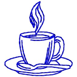 Cup Of Coffee Outline embroidery design