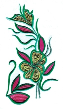 Island Flower Applique embroidery design